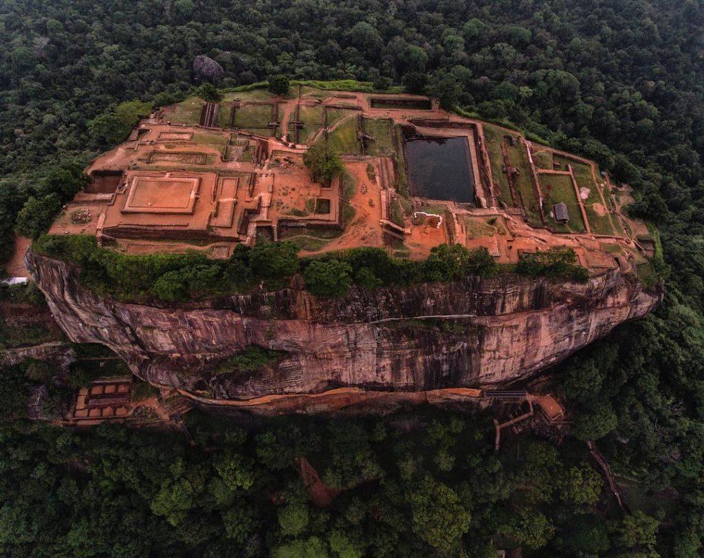 Sigiriya, en Sri Lanka, desde las alturas