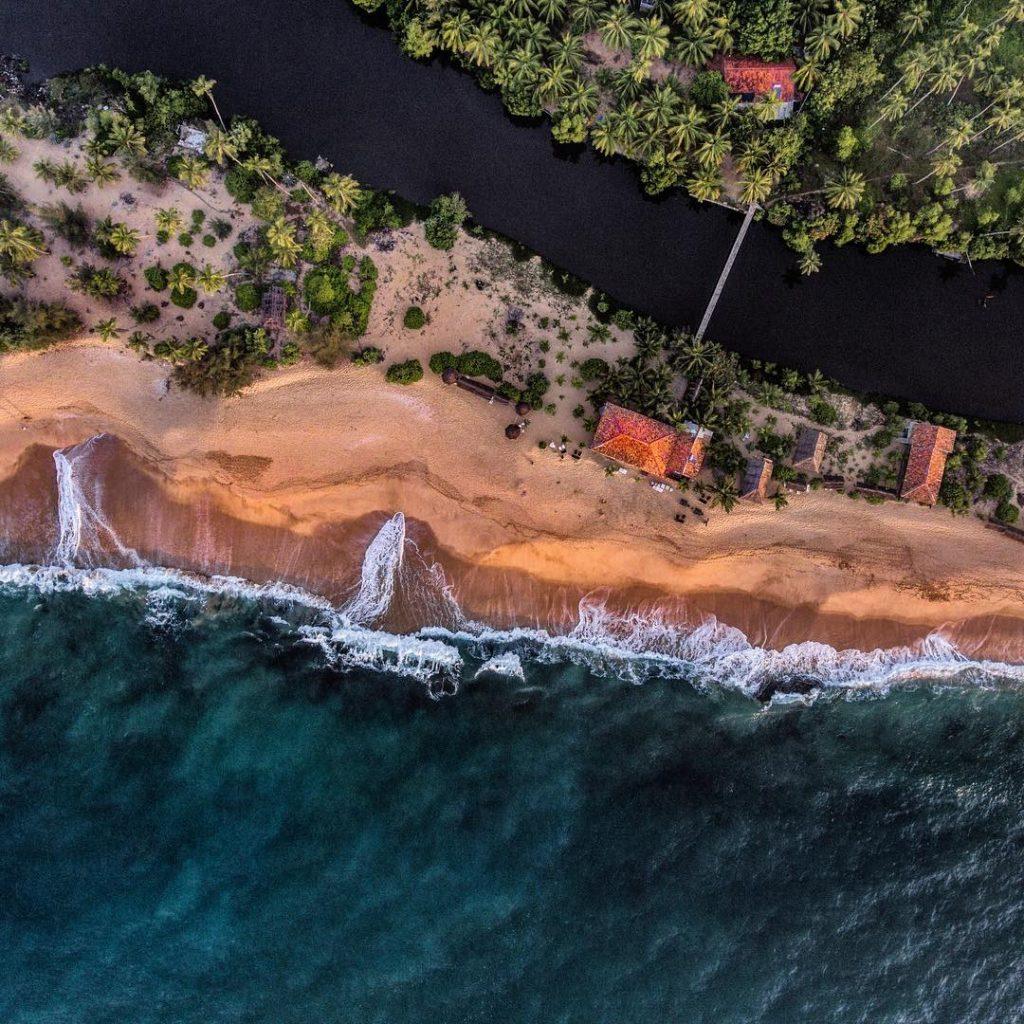 Tangalle en Sri Lanka fotografiada por un dron