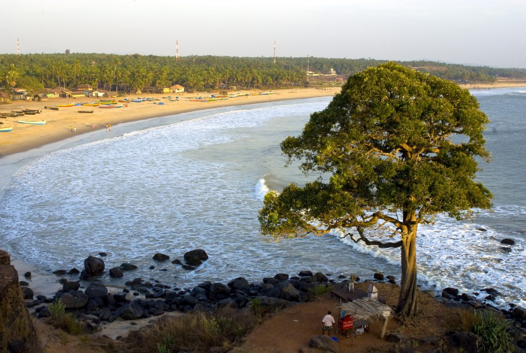Bekal, una de las mejores playas de Kerala.