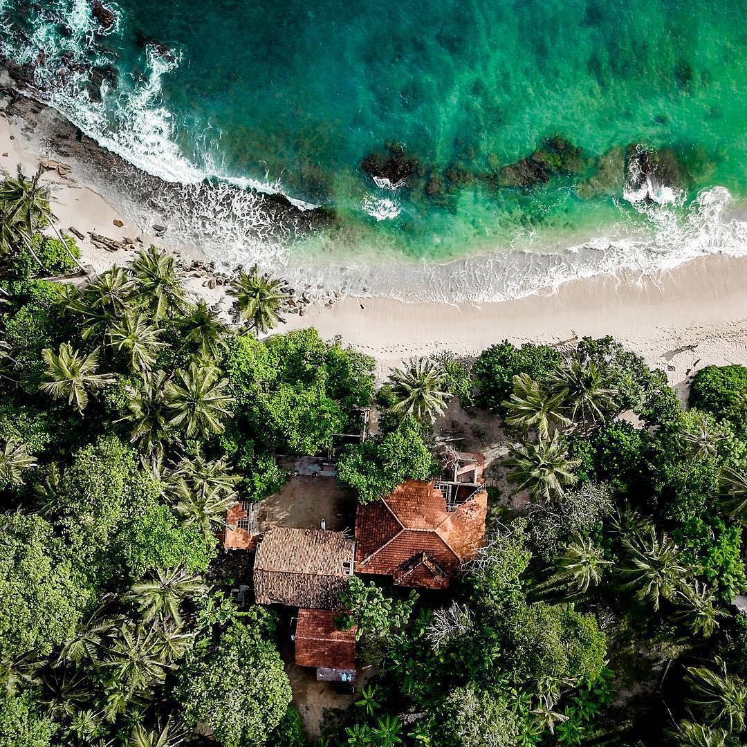 Playa de Weligama en Sri Lanka
