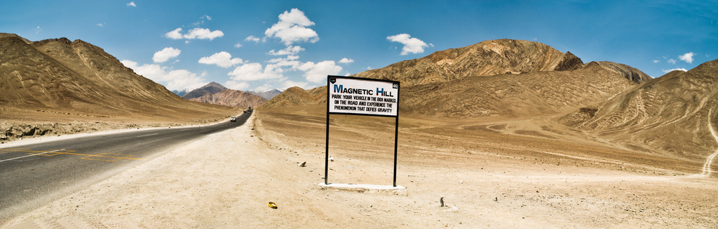 Leh magnetic hill poster