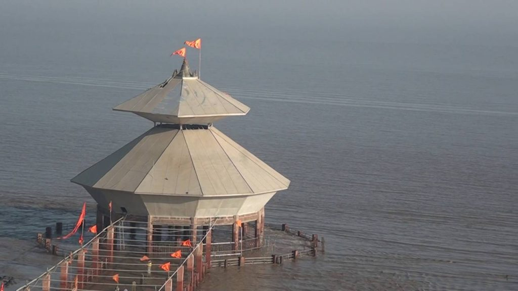Submerged temple of Gujarat in India
