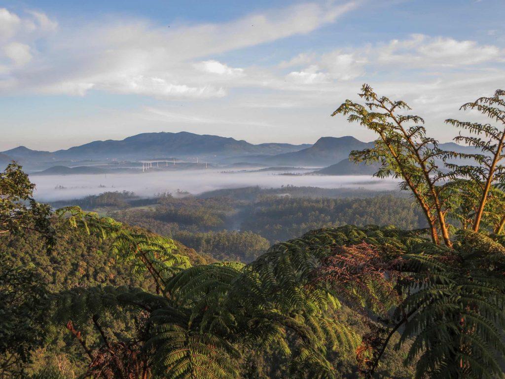 Vistas de las montañas del Horton Plains National Park en Sri Lanka.