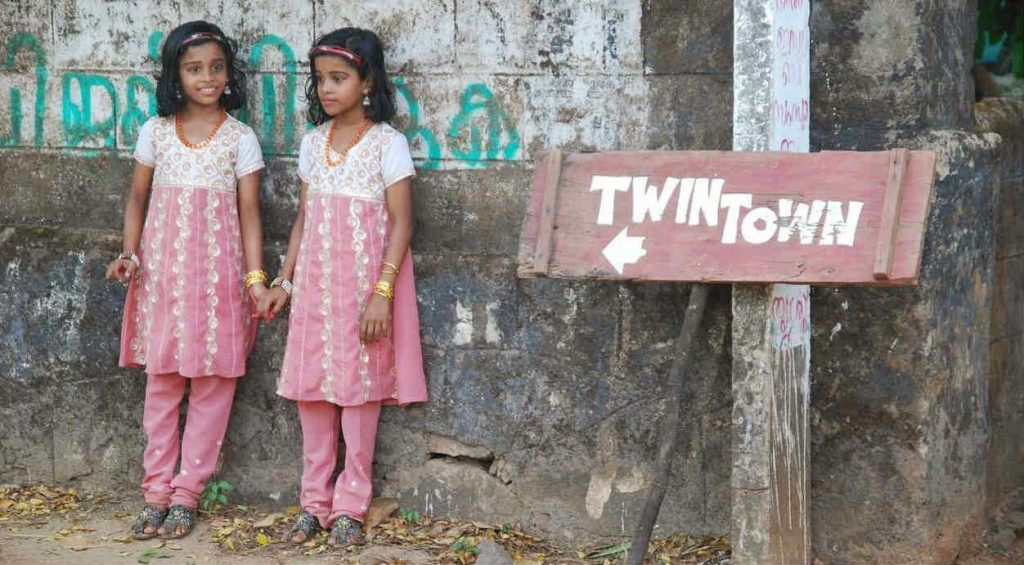 Twin couple in the Twin Town of Kerala.