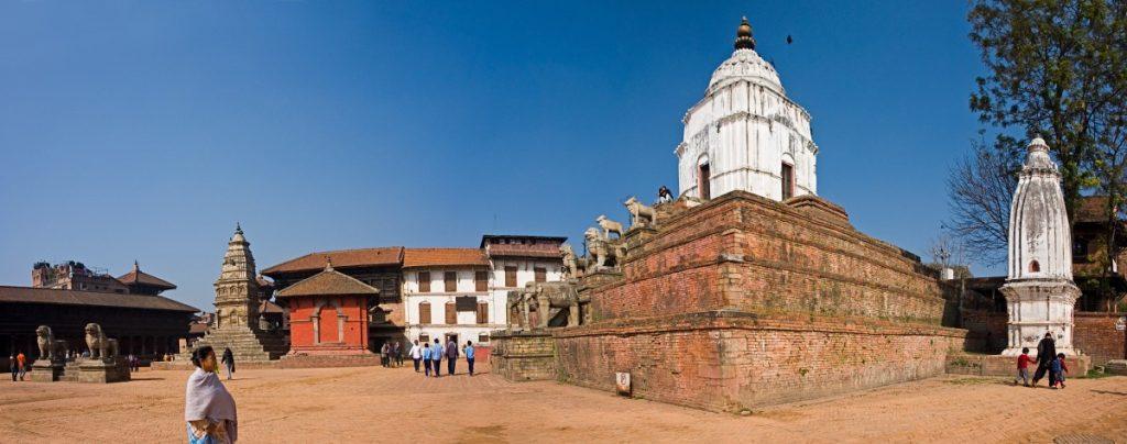 Plaza de Bhaktapur en Nepal