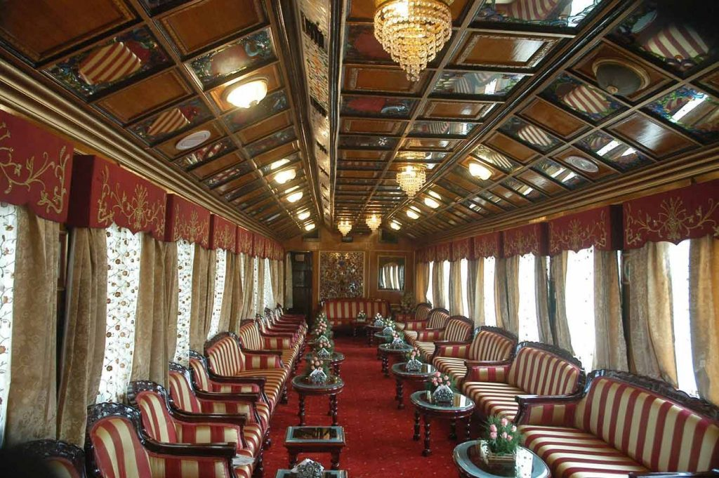 Lounge del tren de lujo Palace on Wheels