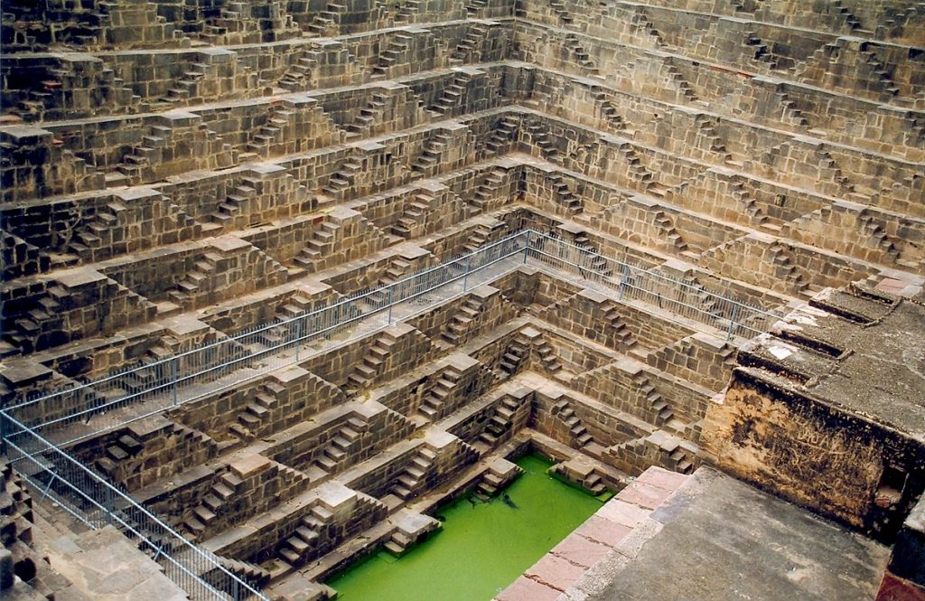 Steps of Chand Baori, the most famous baori in India