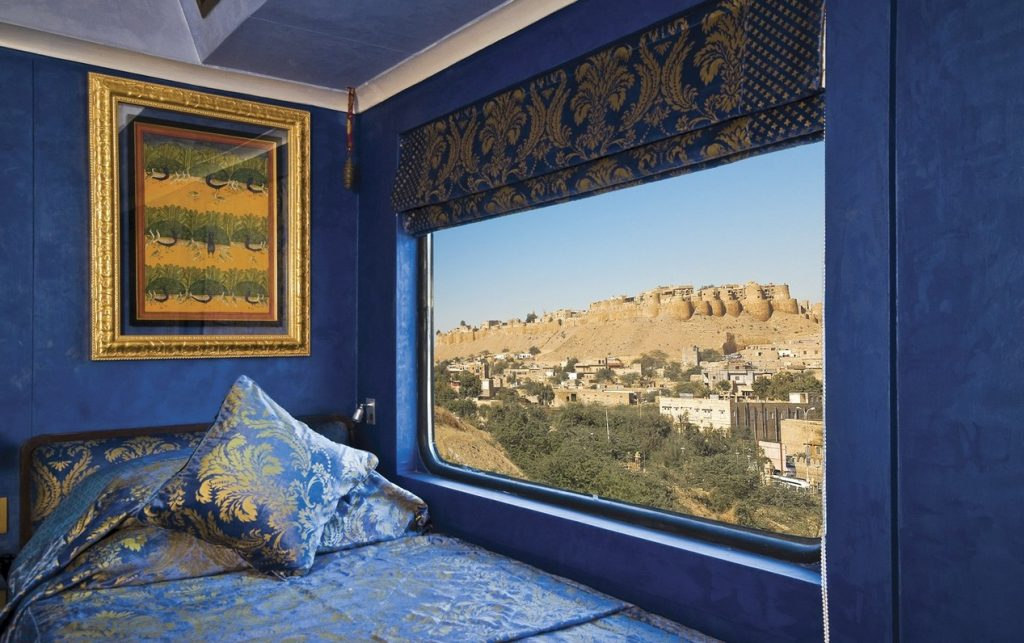 Fuerte de Jaisalmer visto desde tren Palace on Wheels