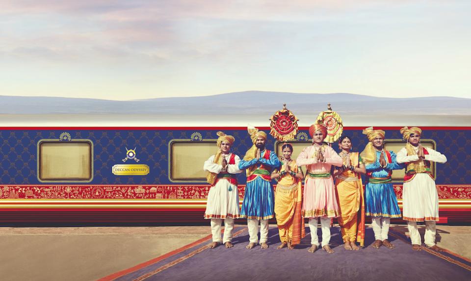 Deccan Odissey es uno de los granes trenes de lujo en la India