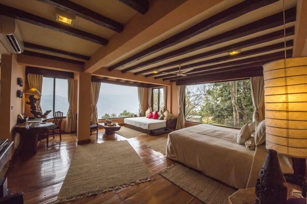 Suite de uno de los mejores hoteles de lujo de Nepal, el Dwarika