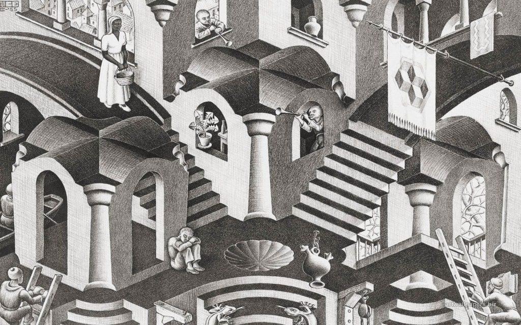 Obra de Escher inspirada por la India