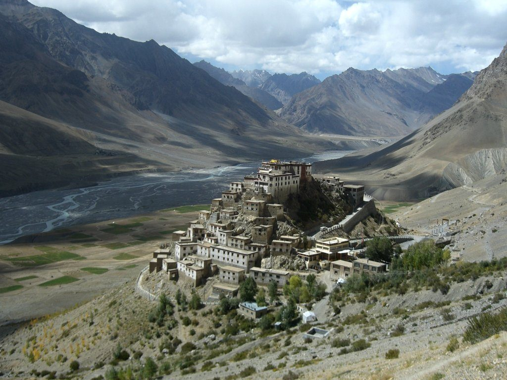Indus River through the Kee Gompa monastery