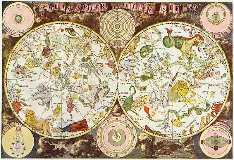 Mapa zodiaco. Donde viajar según tu horóscopo