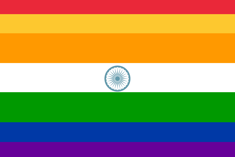 Indian gay flag in favor of homosexuality