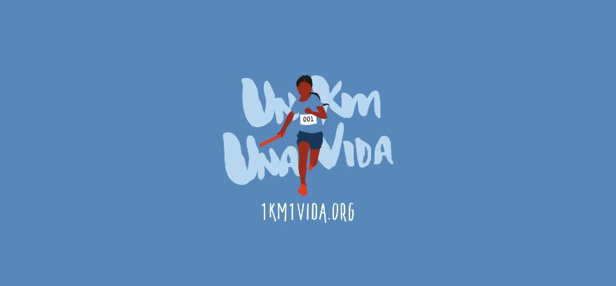 Logotipo e ilustración el proyecto 1km1vida