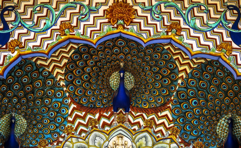 Peacock motifs at the City Palace of Jaipur