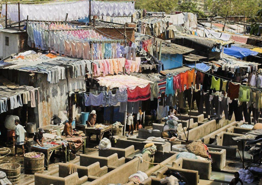 Prendas tendidas en Dhobi Ghat