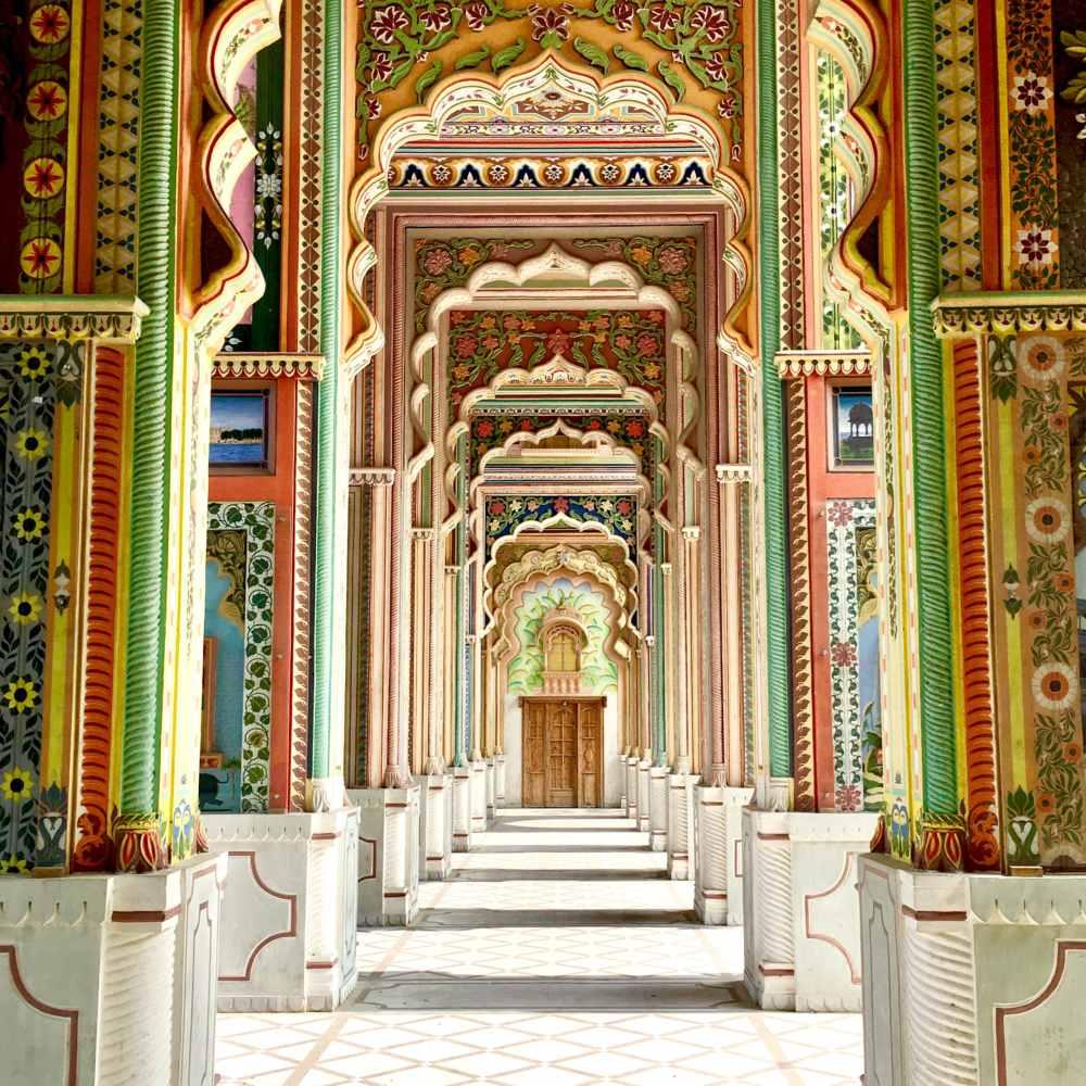 Los magníficos colores de Jawahar Circle en Jaipur
