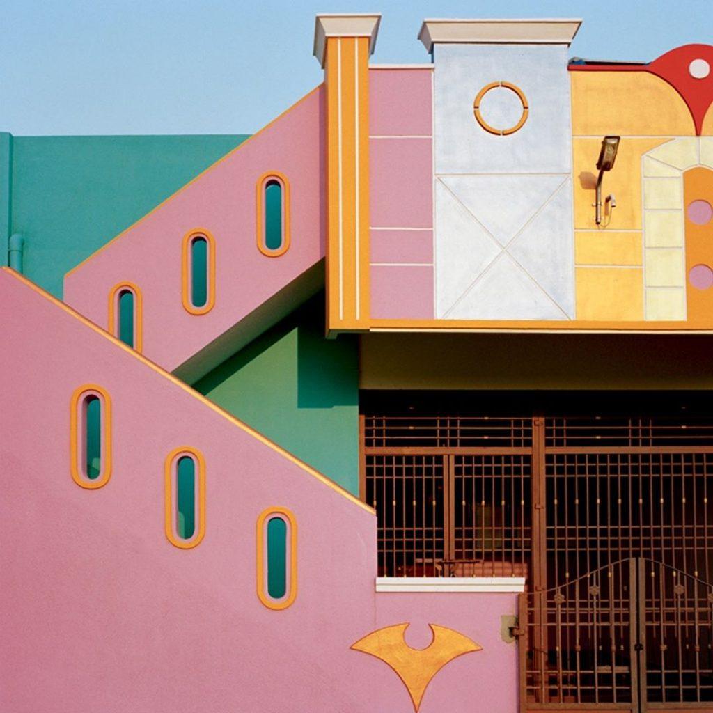 Casas de colores en Tiruvannamalai