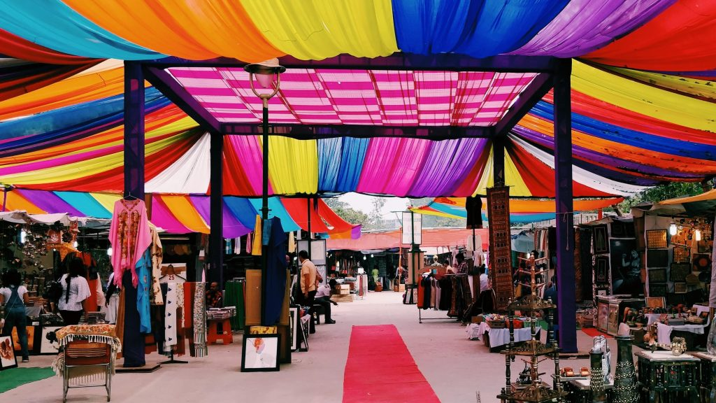 The colors of Dilli Haat, one of the best markets in Delhi