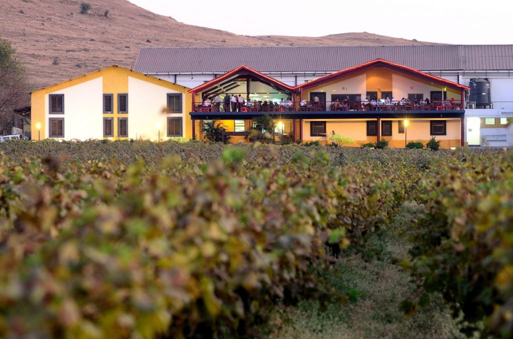 Views of The Source and the vineyards of Sula Vineyards