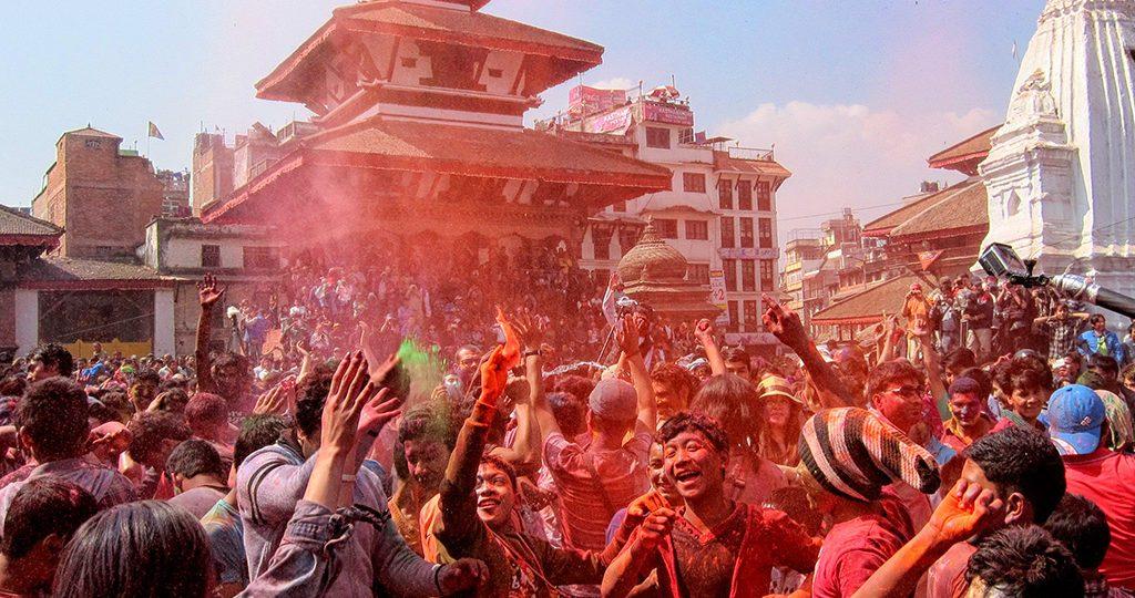 Holi en Kathmandu