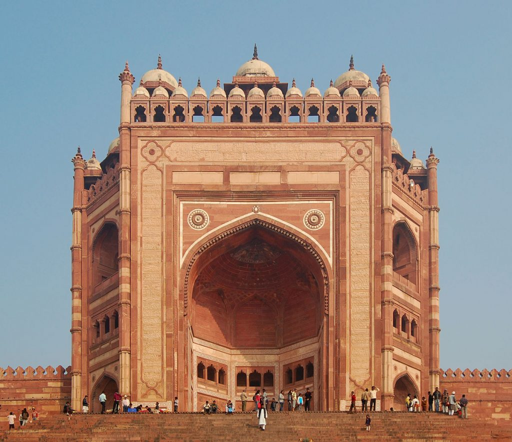Buland Darwaza the entrance to the Fatehpur Sikri complex near Agra