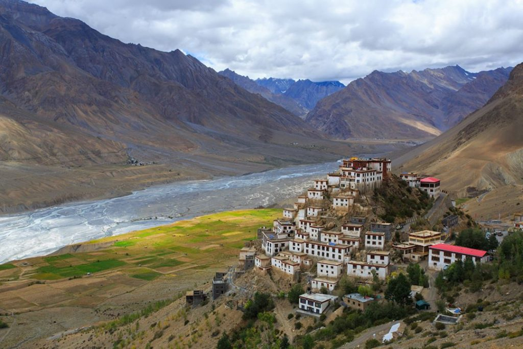 The Key Monastery of Spiti Valley in North India