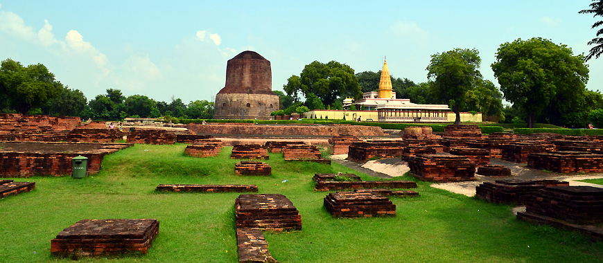 Complejo de Sarnath y estupa cerca de Varanasi