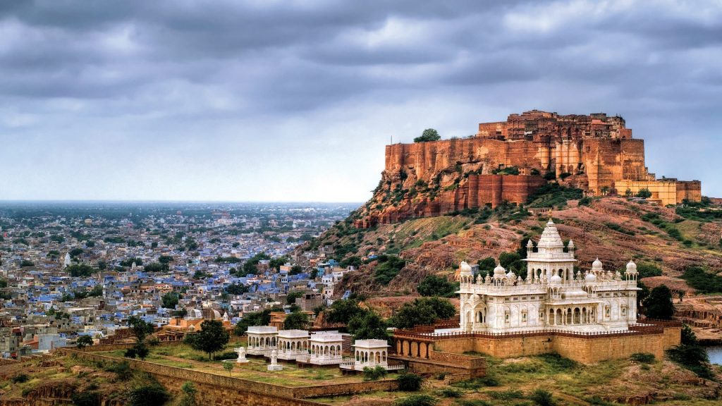 Mehrangarh Fort in the city of Jodhpur
