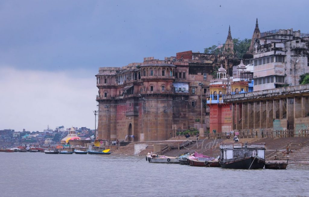 View of Ramnagar Fort along the Ganges river