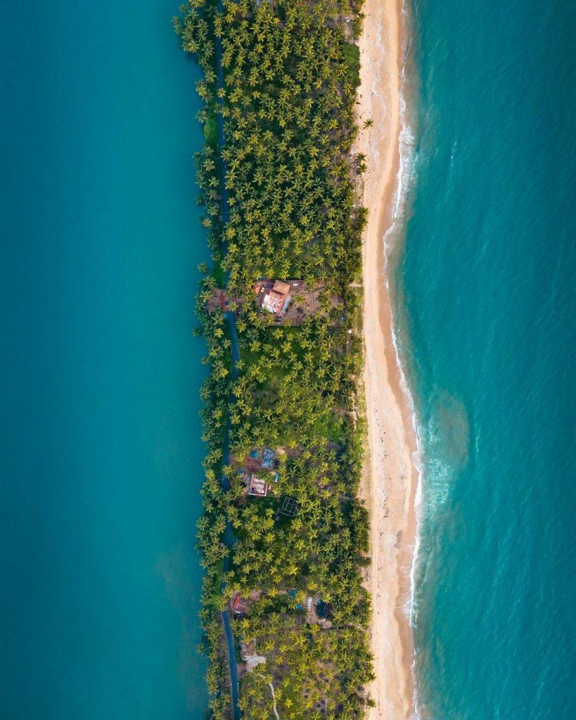Kerala at drone view