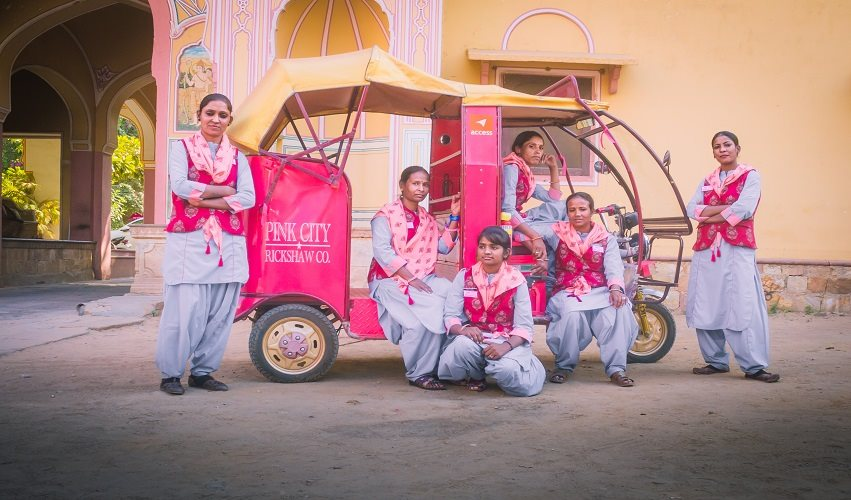 Women of the Pink City Rickshaw project