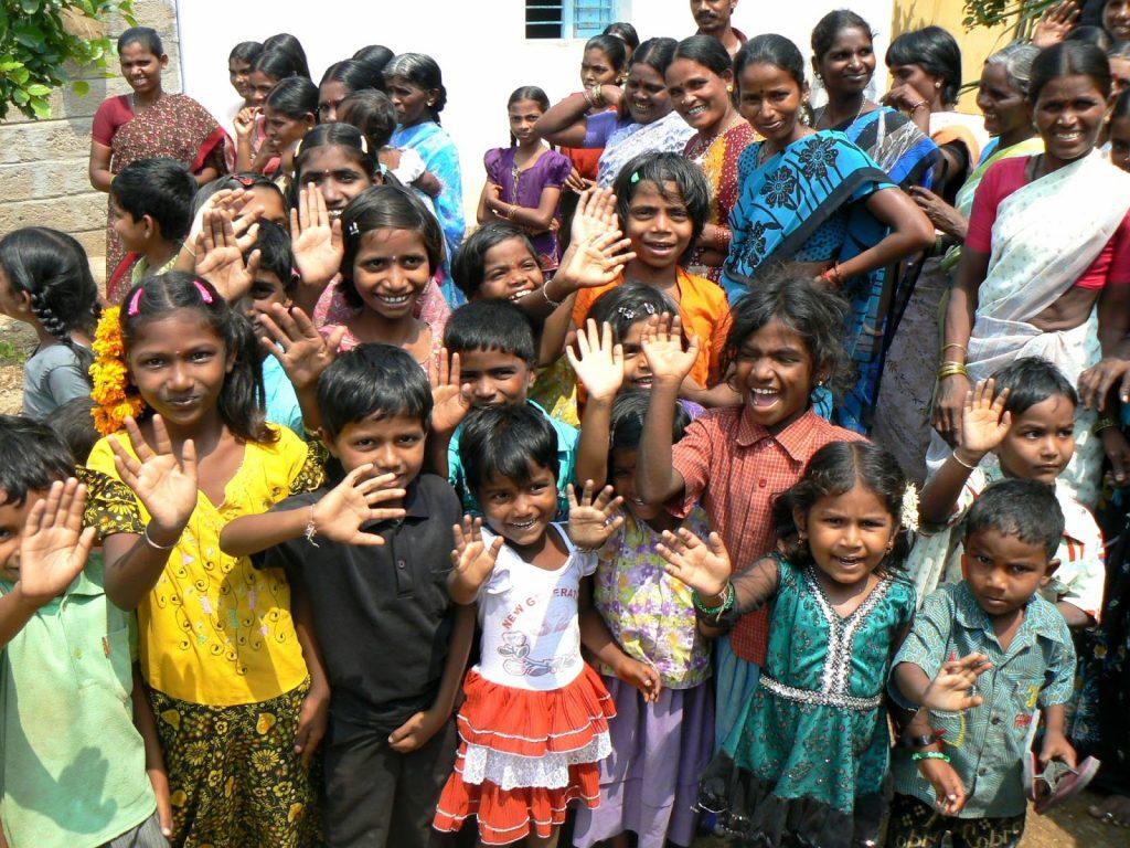 Niños apadrinados en la Fundación Vicente Ferrer