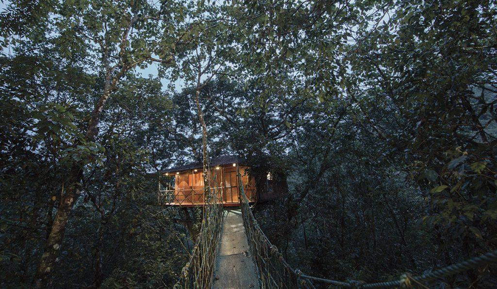 Cabaña en la selva de Kerala