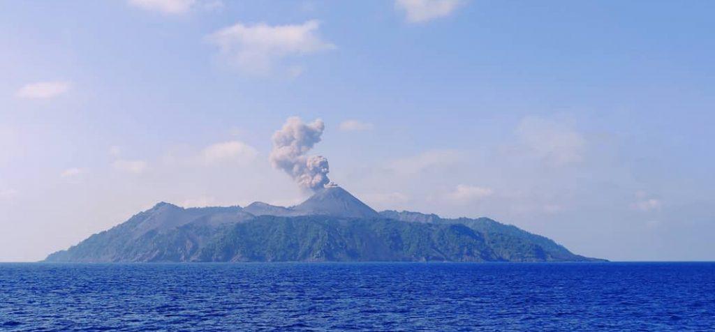 Panorámica de la volcánica Barren Island