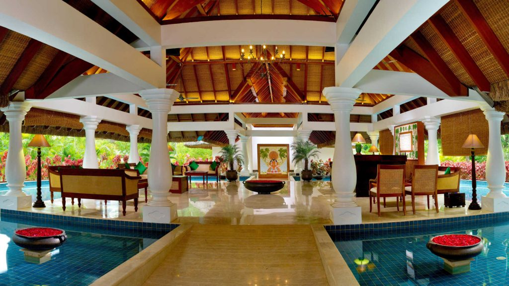 Interior of the Carnoustie Ayurveda Wellness resort.