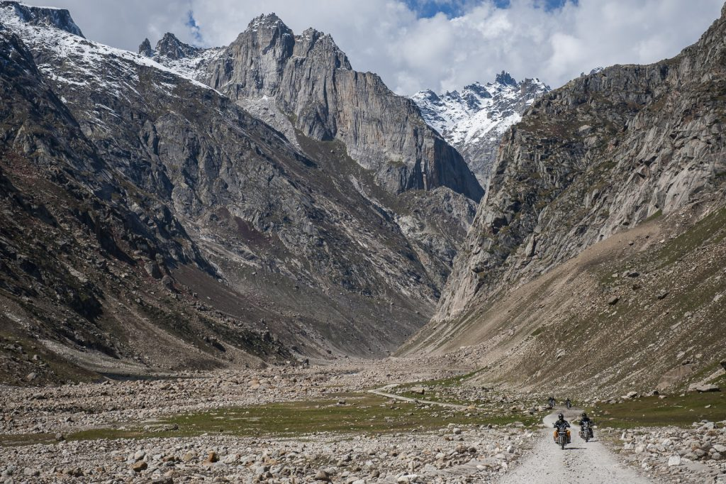 Royal Enfield motorcycles in Spiti Valley