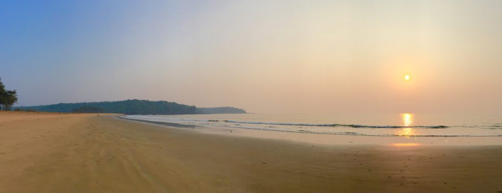 The quietest beach in Goa
