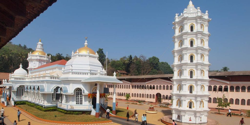 Famous Goa temple with high tower