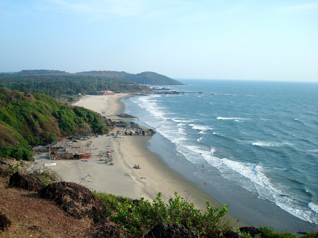 Several beaches of Goa in Vagator