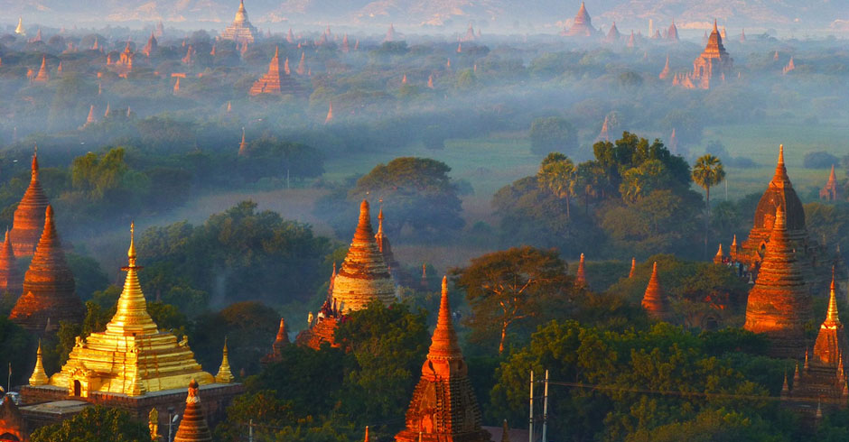 City of Bagan in Myanmar