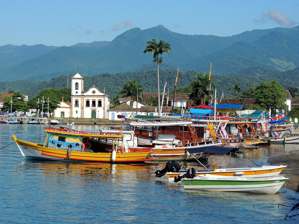 Colonial city of Paraty in Brazil