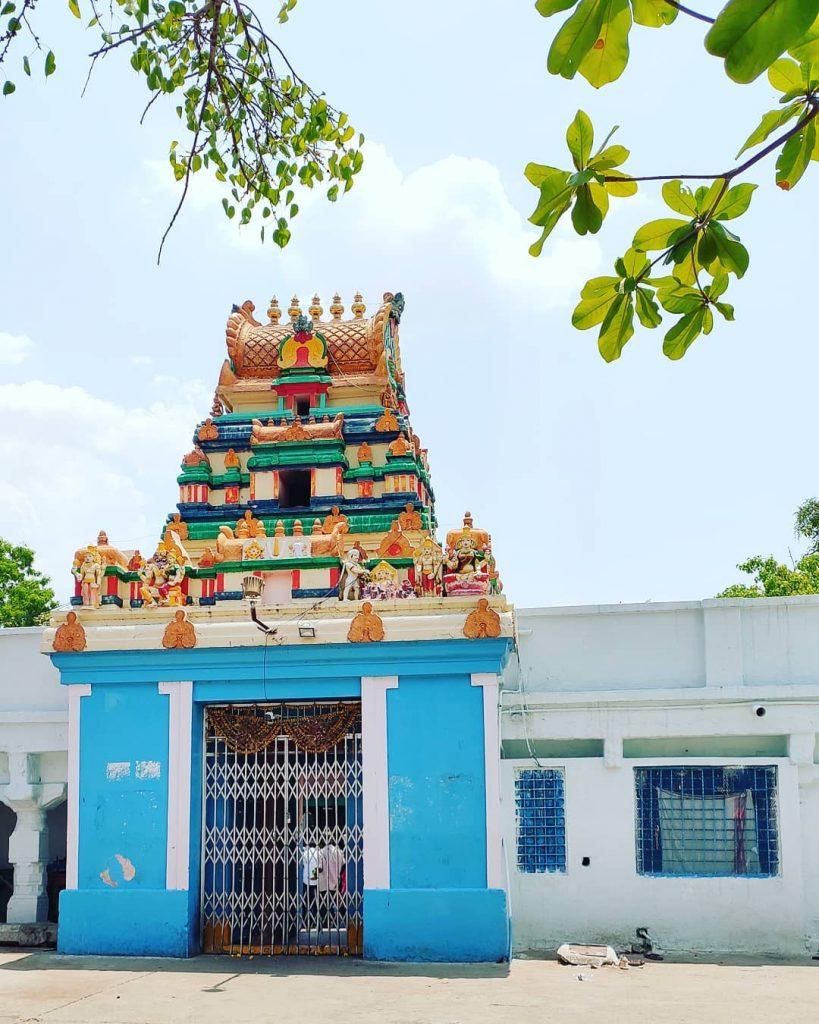 Colorful facade of Visa Balaji Temple
