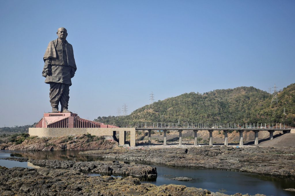 The tallest statue in the world is in India