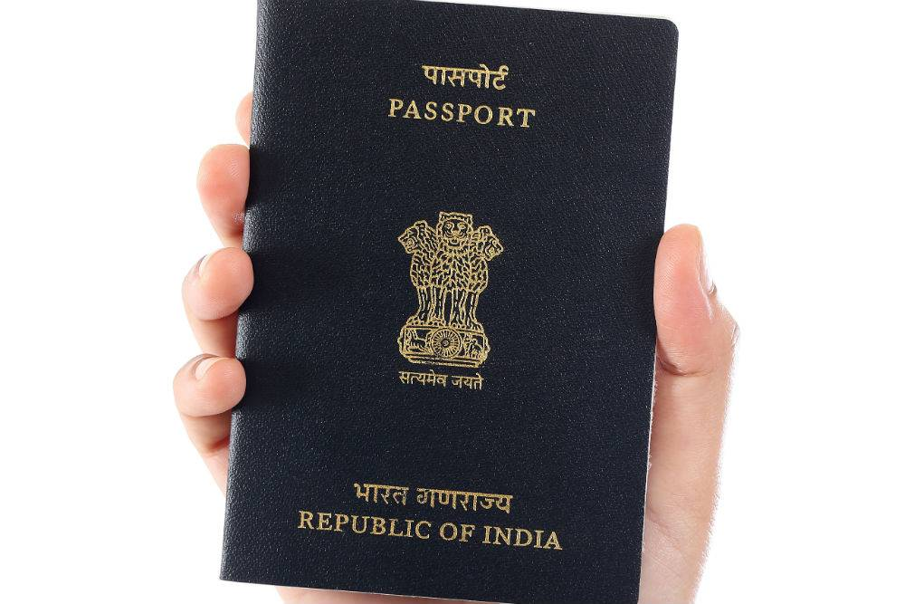 Passport issued by the Indian government