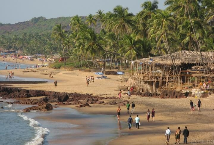 Anjuna Beach en Goa