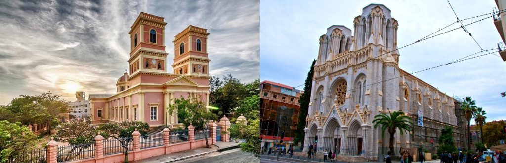 Notre Dame de Pondicherry and Notre Dame in Nice