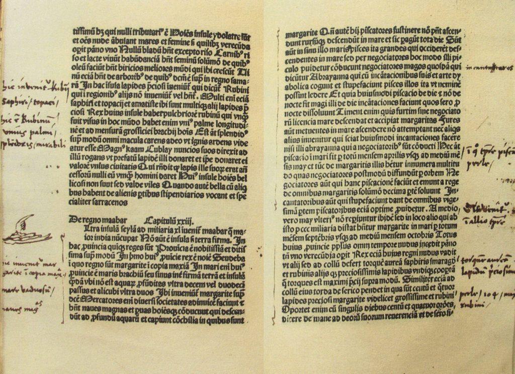 Fotografía del manuscrito del Libro de las Maravillas