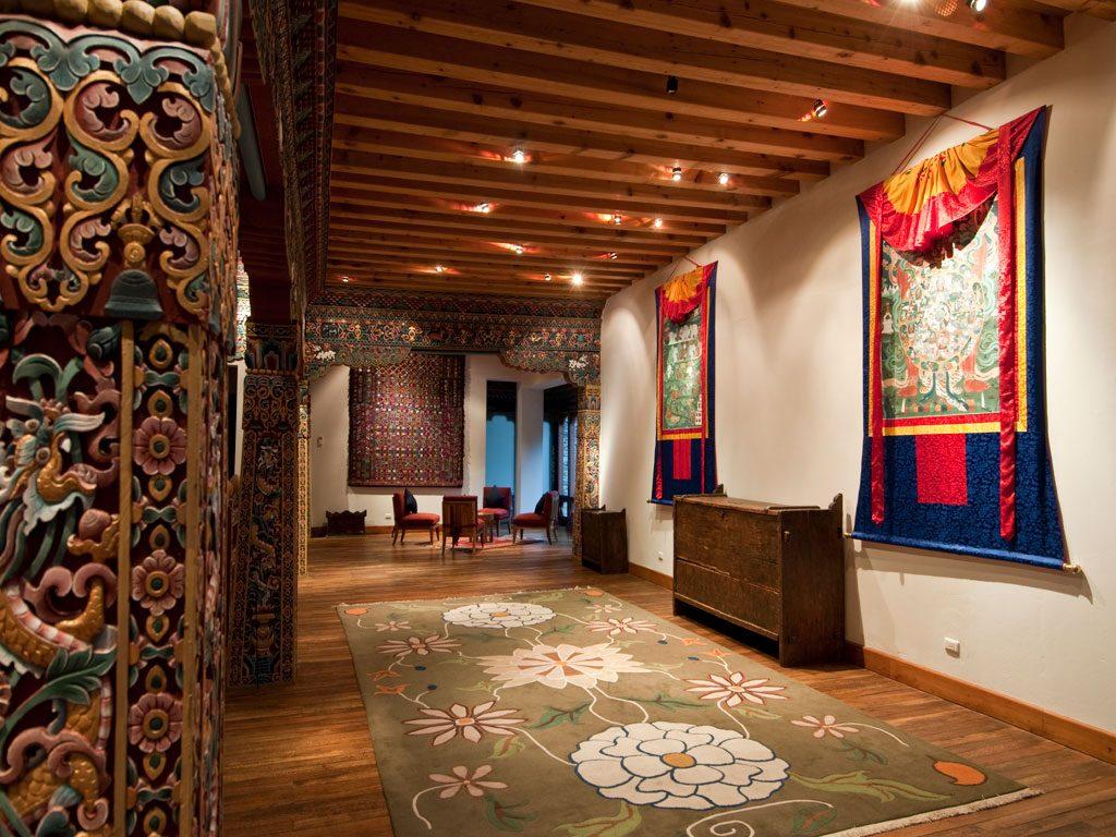 Recibidor del Zhiwa Ling Paro, uno de los mejores hoteles de Bután